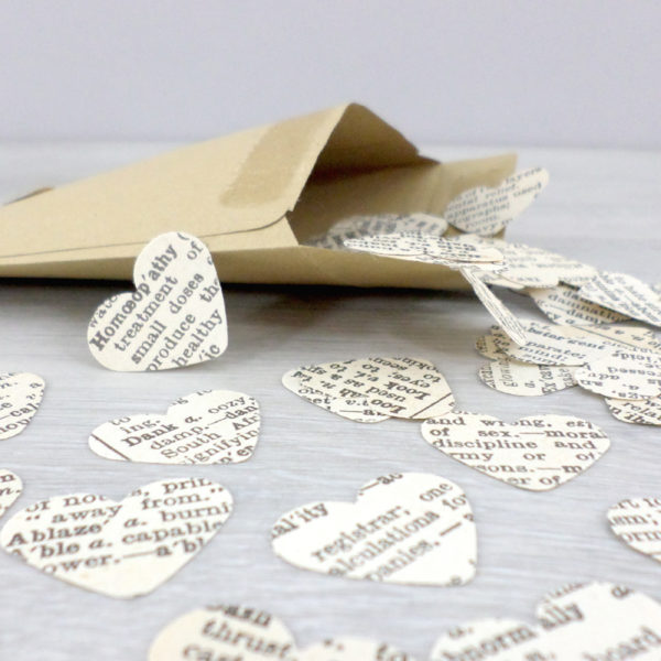 dictionary confetti hearts