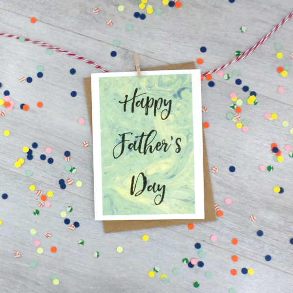 happy fathers day book card