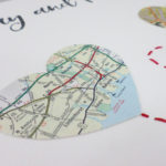 map heart travel inspired engagement and wedding gift