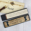 pride and prejudice gift pencils in a pencil box for book lovers and Jane Austen fans