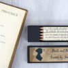 pride and prejudice pencil set custom made just for you