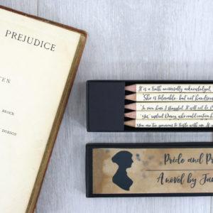 pride and prejudice pencil set custom made just for you