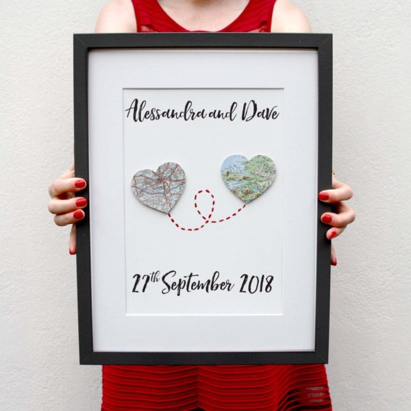 map heart artwork engagement artwork gifts for weddings and anniversaries by six0six design 1500