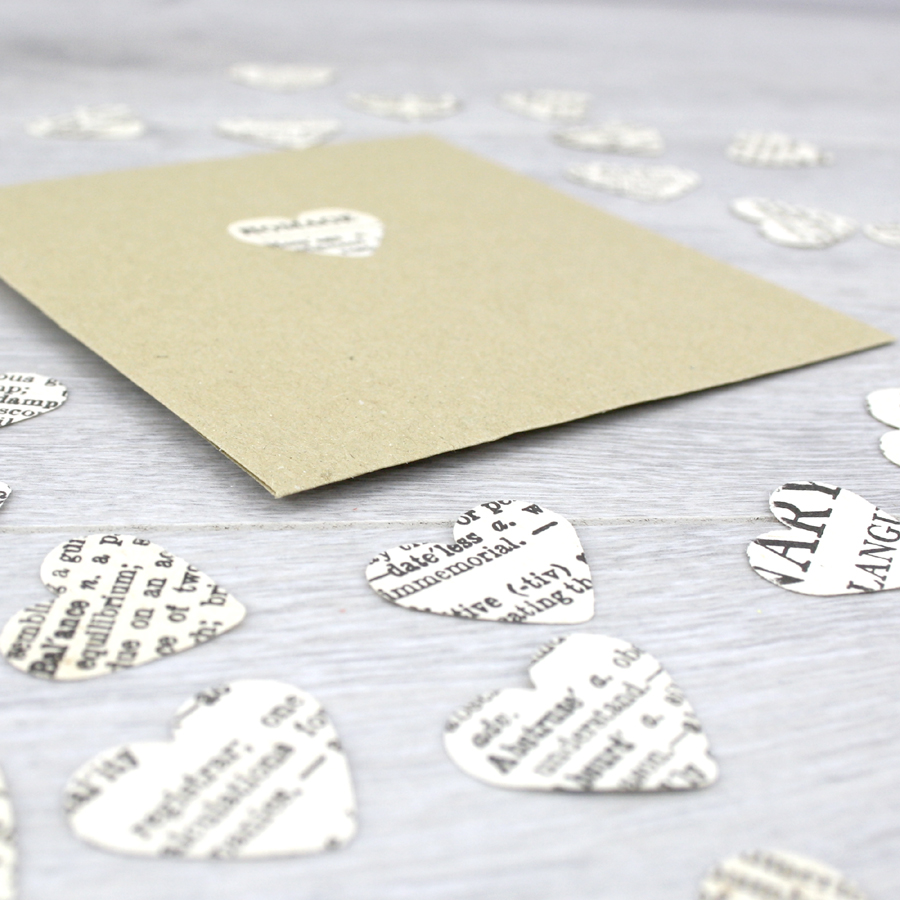 Dictionary Confetti Hearts - six0six design: Gifts for Book Lovers ...
