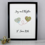 wedding prints gifts for couples map prints travel wedding gift