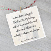 pride and prejudice quote card by six0six design