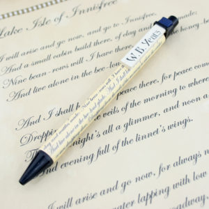 wb yeats lake isle of innisfree poetry pen