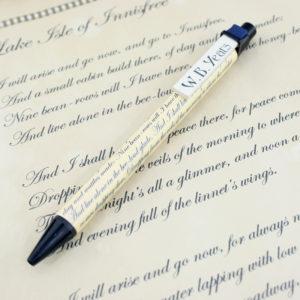 wb yeats lake isle of innisfree poetry pen