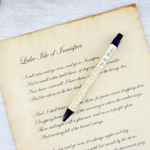 lake isle of innisfree irish poetry pencil by six0six design