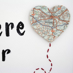 map heart location of your home city or village by six0six design