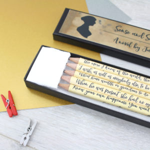 sense and sensibility gift pencil set