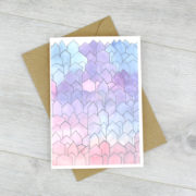 watercolour greeting card blank inside by six0six design