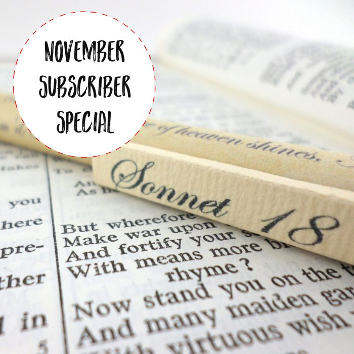 november subscriber special from six0six design