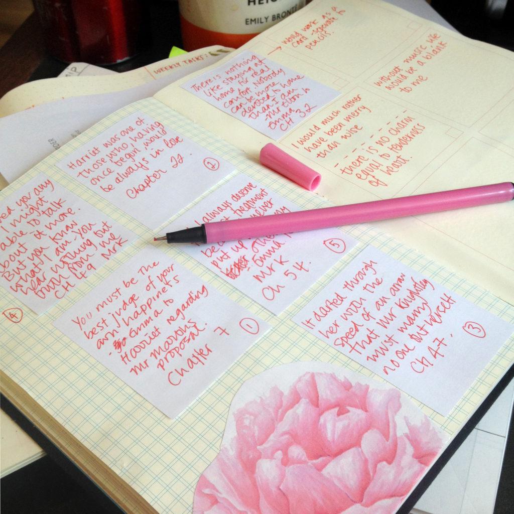 Emma pencils design process Jane Austen gifts