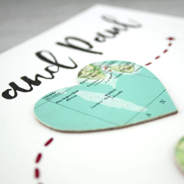 wedding map print wedding anniversary location artwork by six0six design