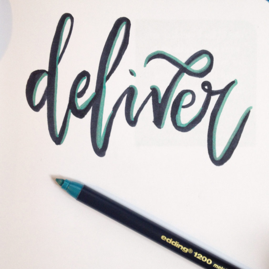 hand writing calligraphy writing by six0six design