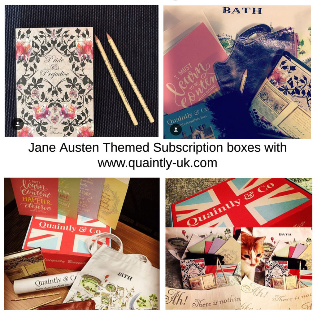 jane austen themed subscription boxes with quaintly