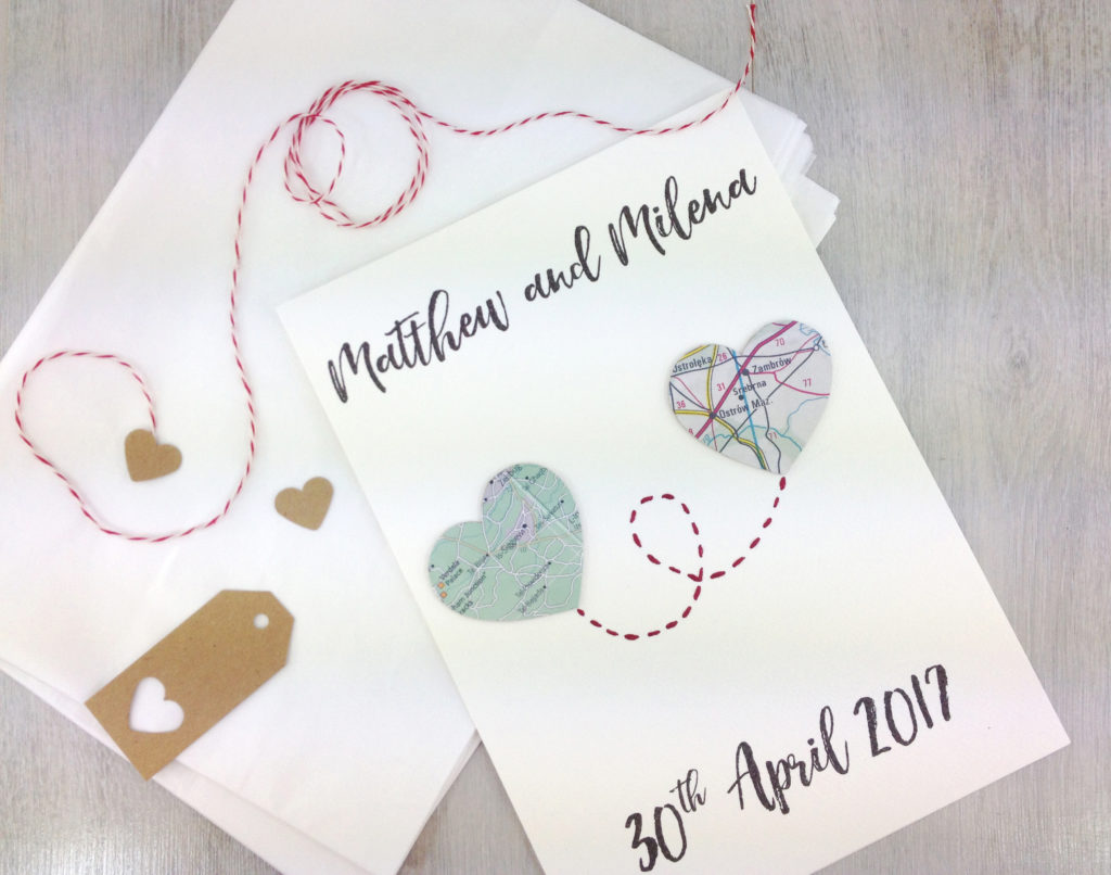 map heart anniversary artwork location gifts by six0six design