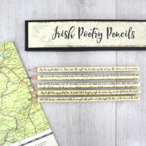 Famous Irish poets gifts for poetry lovers by six0six design made in Ireland