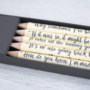 alice lewis carroll quote pencils gifts for bookworms made in ireland by six0six design