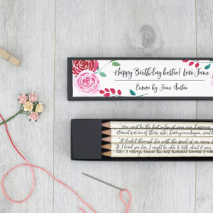 gifts for her emma quote pencils jane austen six0six design