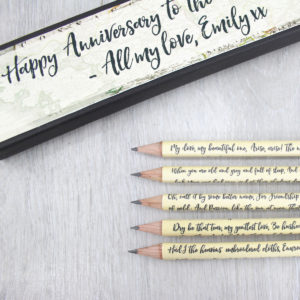 personalised irish poetry pencils famous poems irish poetry six0six design