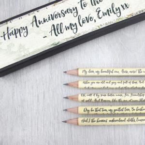 personalised irish poetry pencils famous poems irish poetry six0six design