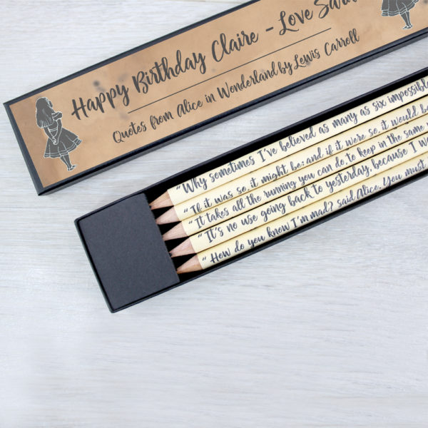 personalised message Alice in Wonderland Gifts for her by six0six design literary gifts