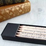 I can listen no longer in silence jane austen quote pencils persuasion gifts six0six design