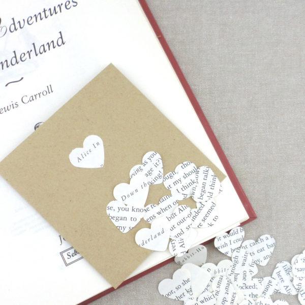 Alice in Wonderland table confetti