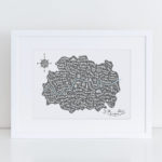 map of london paper artwork map gifts