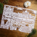 custom city paper cut gifts for map lovers and travellers miss bespoke papercuts