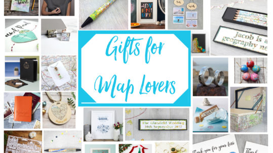 Gifts for map lovers a handmade christmas gift guide