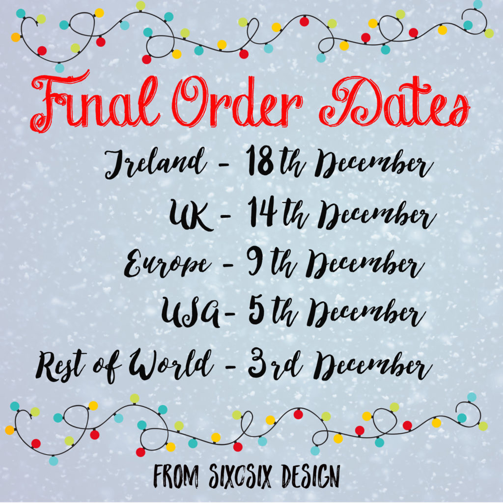 last order dates six0six design 2017