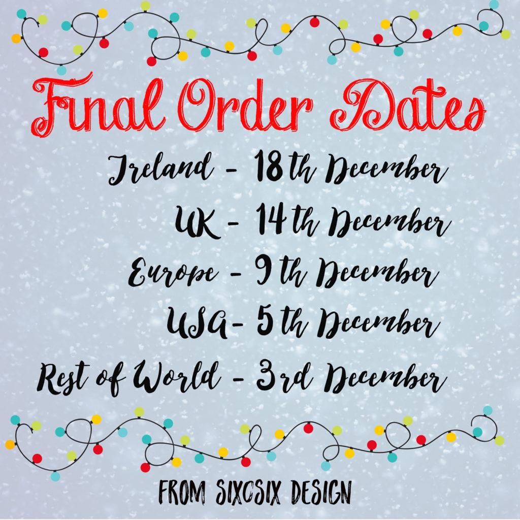 last order dates six0six design 2017