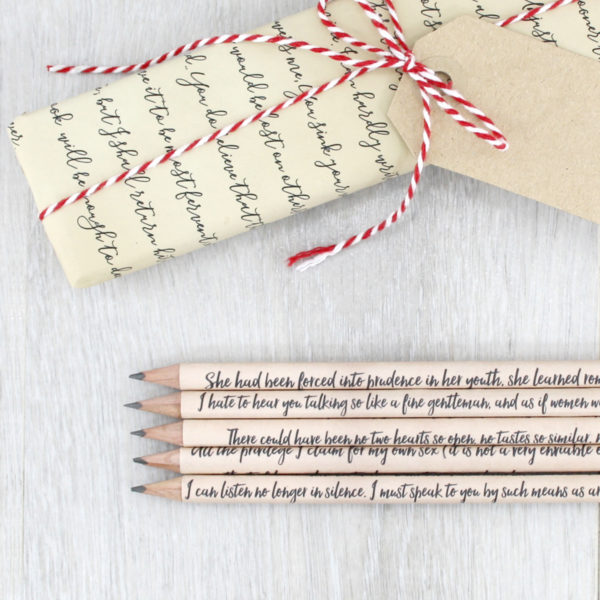 persuasion by jane austen gifts for jane austen fans gift wrapped in jane austen wrapping paper