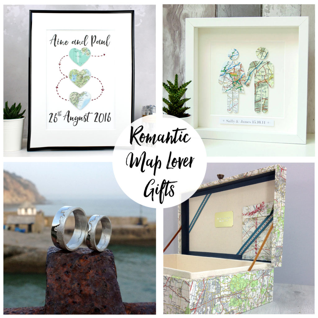romantic map lover gifts coastline rings, keepsake boxes gifts for couples engagement gifts