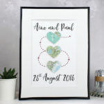 three heart print map keespake three map hearts by six0six design copy