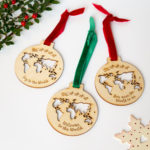 travel inspired christmas tree decorations from the crafty traveller gifts for map lovers