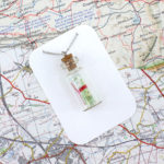 map in a bottle pendant