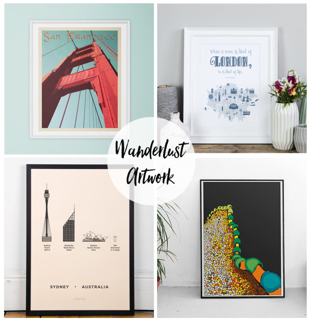 wanderlust artwork prints inspired by travel and city prints