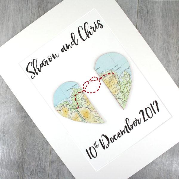 anniversary gift where we met love knot keepsake