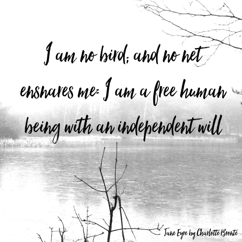 i am no bird and no net ensnares me jane eyre quotes