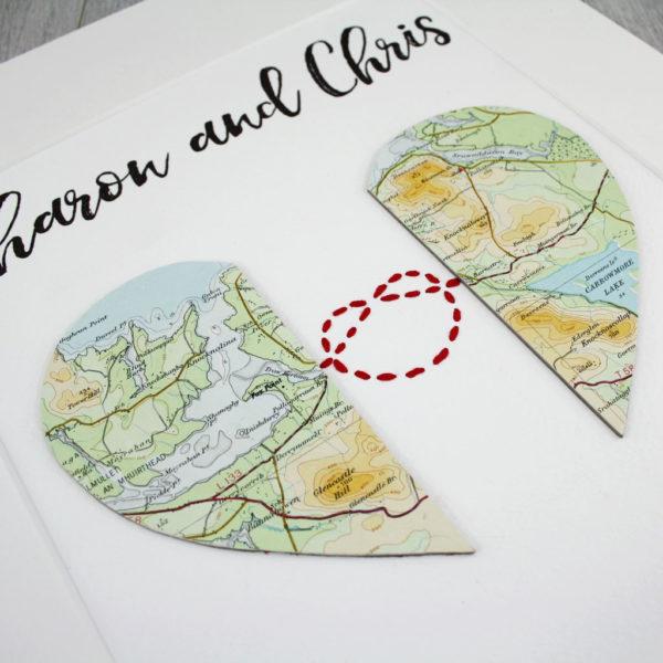 love knot map artwork