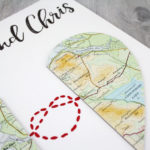 map love knot wedding gift