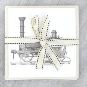 train vintage locamotive greeting cards