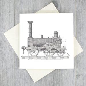vintage train card six0six design