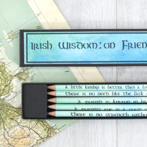 Irish friendship gift Irish proverb pencils