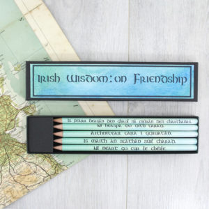Irish Friendship Gifts - irish proverbs quote pencils