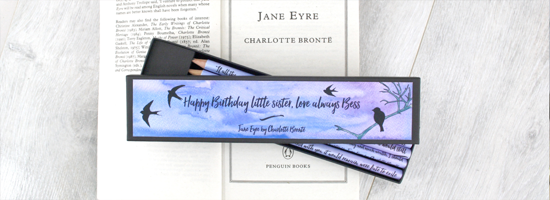 jane eyre pencils literary gifts for friends